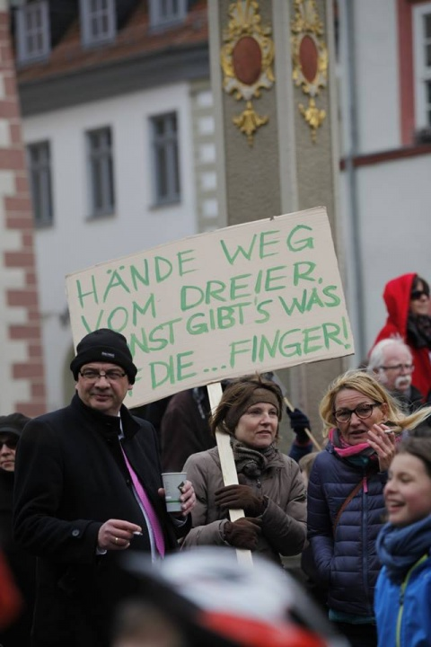 Demo am 27.4.2016, Fischmarkt<span> • Foto: Kirstin Weigel</span>